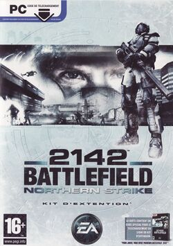 Box artwork for Battlefield 2142: Northern Strike.