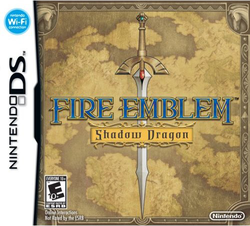Box artwork for Fire Emblem: Shadow Dragon.