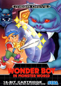 Box artwork for Wonder Boy in Monster World.