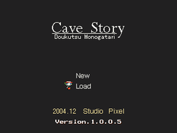 Box artwork for Cave Story.
