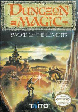 Box artwork for Dungeon Magic: Sword of the Elements.