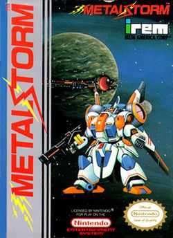 Box artwork for Metal Storm.