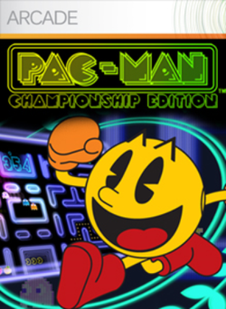 Box artwork for Pac-Man Championship Edition.
