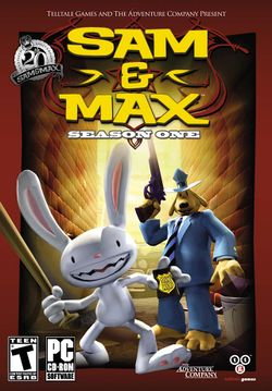 Box artwork for Sam & Max Save the World.