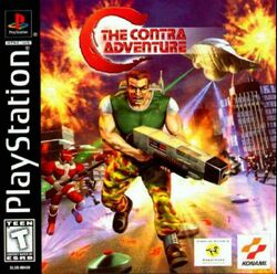 Box artwork for C: The Contra Adventure.