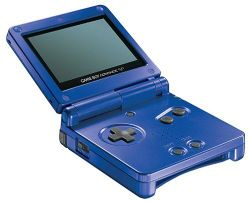 The console image for Game Boy Advance SP.