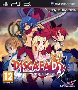 Box artwork for Disgaea D2: A Brighter Darkness.