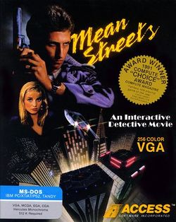 Box artwork for Mean Streets.