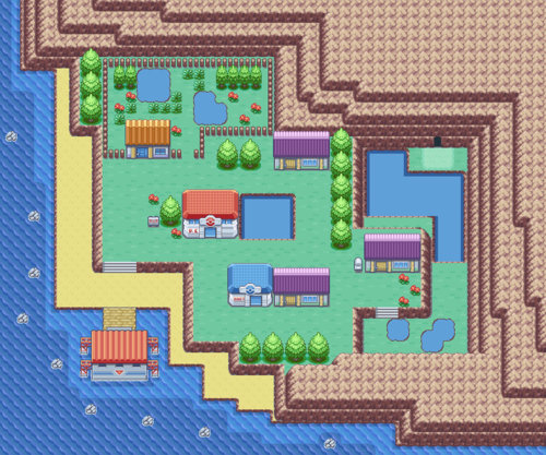 Pokémon FireRed and LeafGreen/Four Island — StrategyWiki ... on sapphire map, sinnoh map, blue safari zone map, fire zone map, game of thrones dragonstone map, auburn university map,