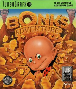 Box artwork for Bonk's Adventure.