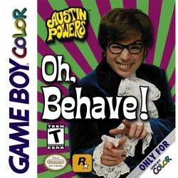 Box artwork for Austin Powers: Oh, Behave!.