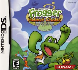 Box artwork for Frogger: Helmet Chaos.