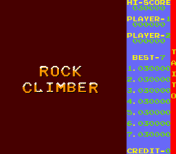 Box artwork for Rock Climber.