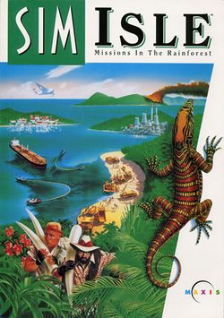 Box artwork for SimIsle: Missions in the Rainforest.