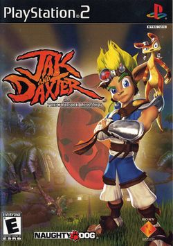 Box artwork for Jak and Daxter: The Precursor Legacy.