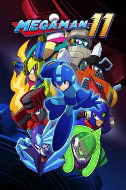 Box artwork for Mega Man 11.