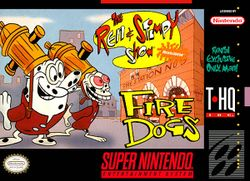 Box artwork for The Ren & Stimpy Show: Fire Dogs.