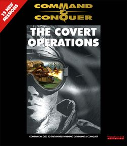 Box artwork for Command & Conquer: The Covert Operations.