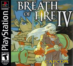 Box artwork for Breath of Fire IV.