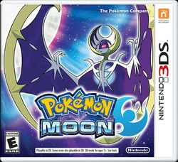 Box artwork for Pokémon Sun and Moon.