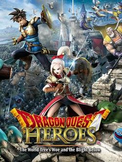 Box artwork for Dragon Quest Heroes: The World Tree's Woe and the Blight Below.