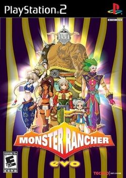 Box artwork for Monster Rancher EVO.