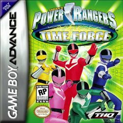 Box artwork for Power Rangers Time Force.