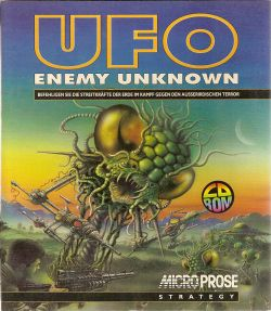 Box artwork for UFO: Enemy Unknown.