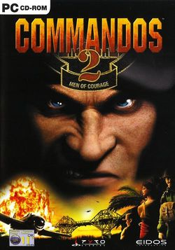 Box artwork for Commandos 2: Men of Courage.