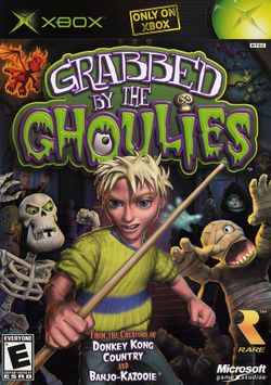 Box artwork for Grabbed by the Ghoulies.