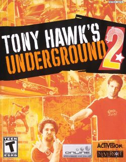 Box artwork for Tony Hawk's Underground 2.