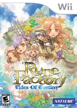 Box artwork for Rune Factory: Tides of Destiny.