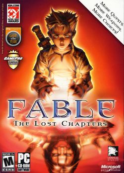 Box artwork for Fable: The Lost Chapters.