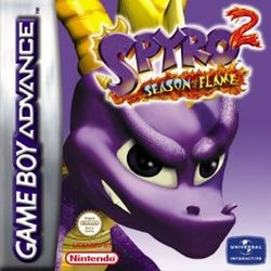 Box artwork for Spyro 2: Season of Flame.
