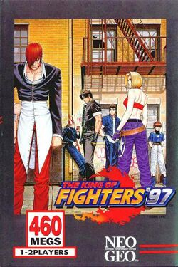 Box artwork for The King of Fighters '97.