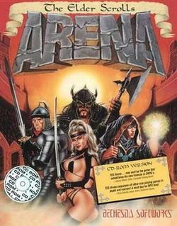 Box artwork for The Elder Scrolls: Arena.