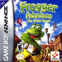 Box artwork for Frogger Advance: The Great Quest.