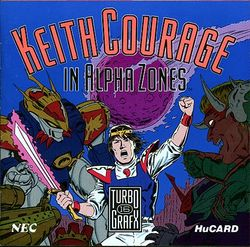 Box artwork for Keith Courage in Alpha Zones.