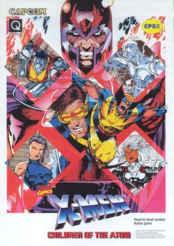 Box artwork for X-Men: Children of the Atom.