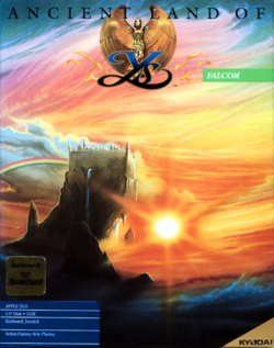 Box artwork for Ys: Ancient Ys Vanished.