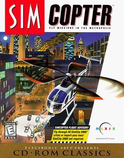 Box artwork for SimCopter.