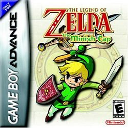 Box artwork for The Legend of Zelda: The Minish Cap.