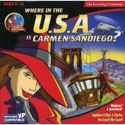 Box artwork for Where in the U.S.A. is Carmen Sandiego?.