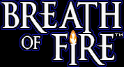 The logo for Breath of Fire.