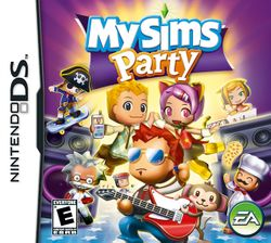 Box artwork for MySims: Party.
