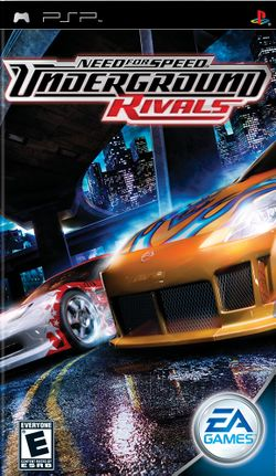 Box artwork for Need for Speed: Underground Rivals.