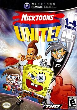 Box artwork for Nicktoons Unite!.