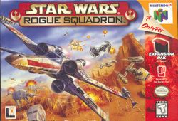 Box artwork for Star Wars: Rogue Squadron.