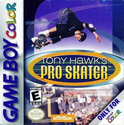 Box artwork for Tony Hawk's Pro Skater (Game Boy Color).