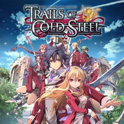 Box artwork for The Legend of Heroes: Trails of Cold Steel.
